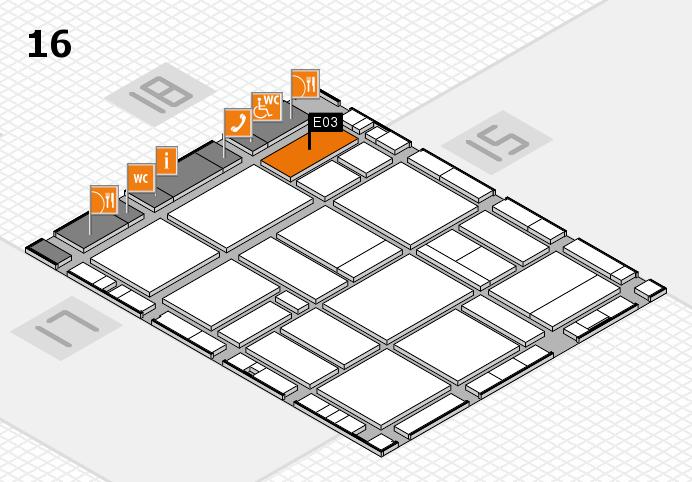 EuroShop 2017 hall map (Hall 16): stand E03