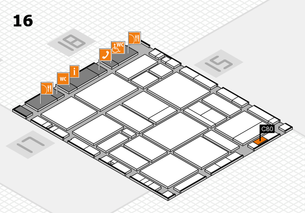 EuroShop 2017 hall map (Hall 16): stand C80