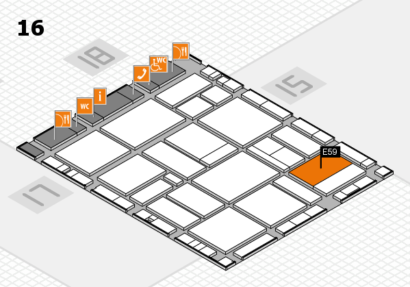EuroShop 2017 hall map (Hall 16): stand E59