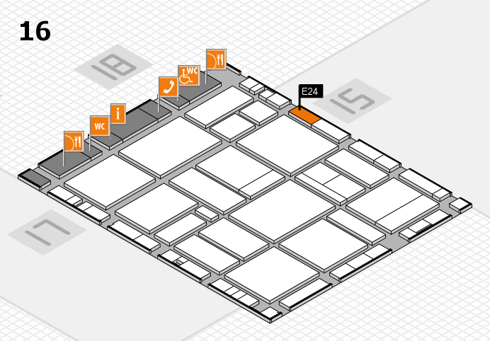 EuroShop 2017 hall map (Hall 16): stand E24