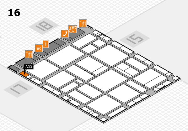 EuroShop 2017 hall map (Hall 16): stand A03
