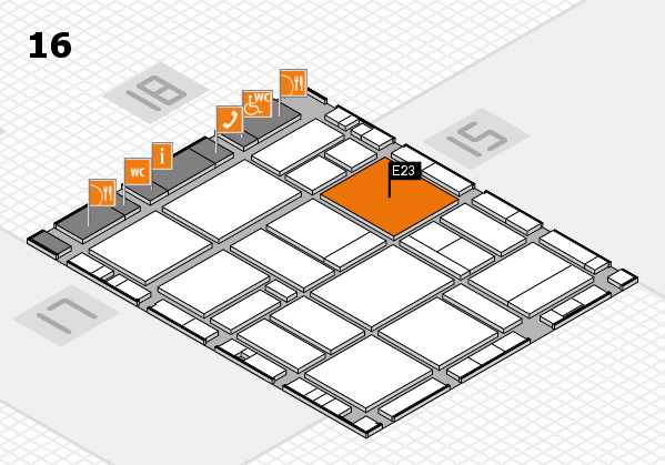 EuroShop 2017 hall map (Hall 16): stand E23