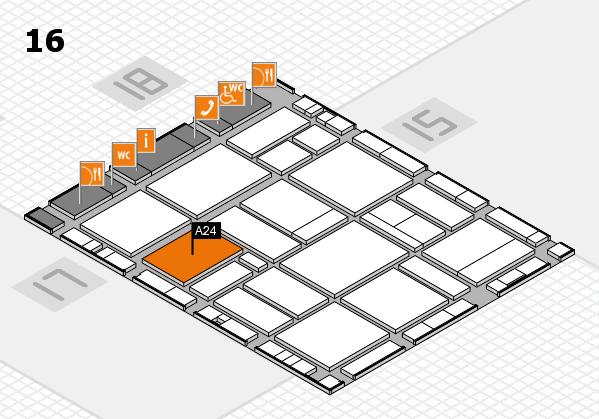 EuroShop 2017 hall map (Hall 16): stand A24