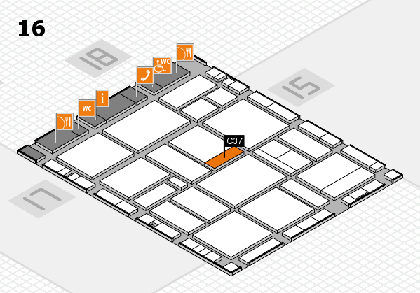 EuroShop 2017 hall map (Hall 16): stand C37