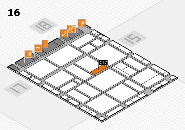 EuroShop 2017 hall map (Hall 16): stand C37