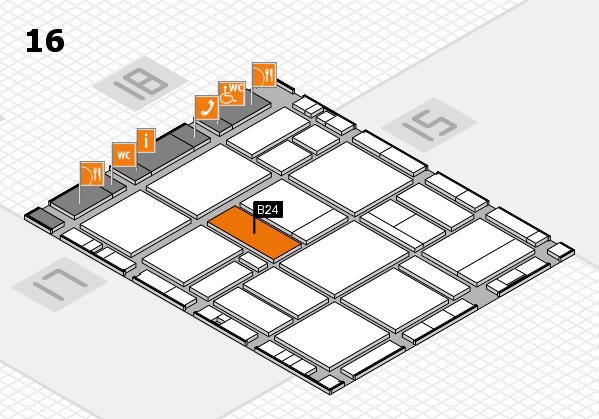 EuroShop 2017 hall map (Hall 16): stand B24