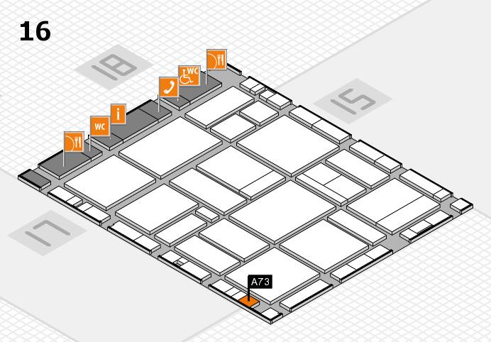 EuroShop 2017 hall map (Hall 16): stand A73