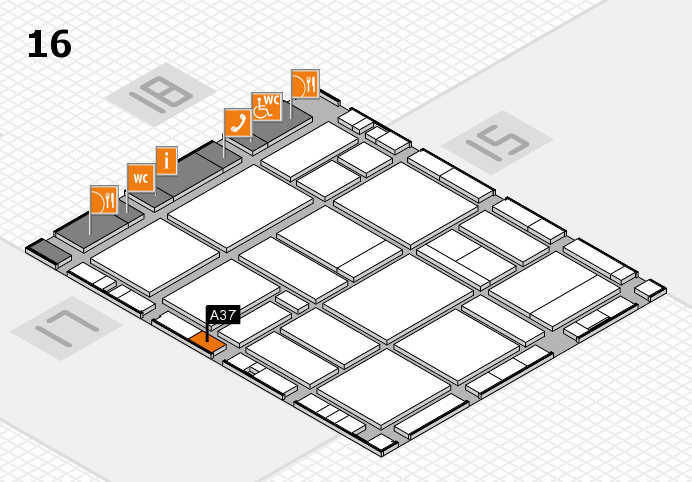 EuroShop 2017 hall map (Hall 16): stand A37