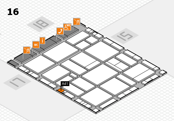 EuroShop 2017 hall map (Hall 16): stand A41