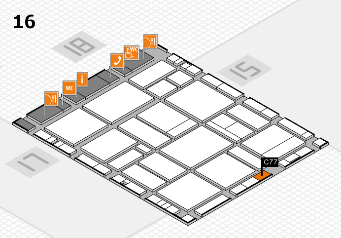 EuroShop 2017 hall map (Hall 16): stand C77