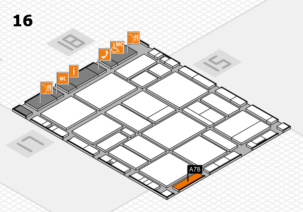 EuroShop 2017 hall map (Hall 16): stand A78