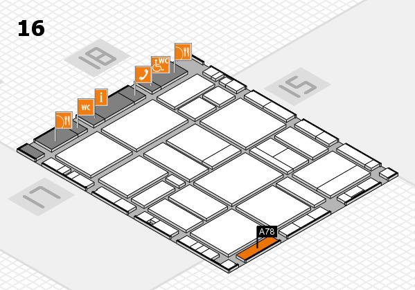 EuroShop 2017 hall map (Hall 16): stand A78