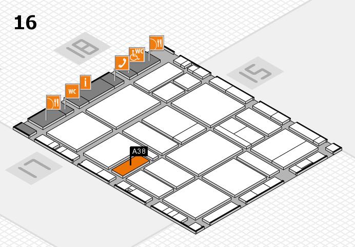 EuroShop 2017 hall map (Hall 16): stand A38