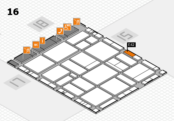 EuroShop 2017 hall map (Hall 16): stand E42