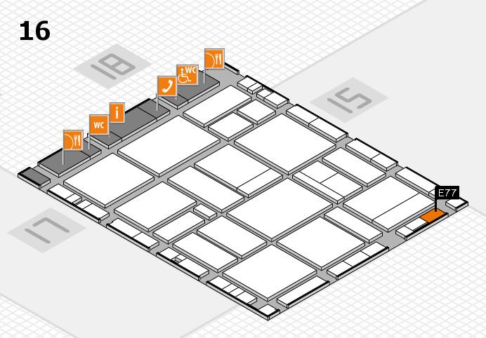 EuroShop 2017 hall map (Hall 16): stand E77