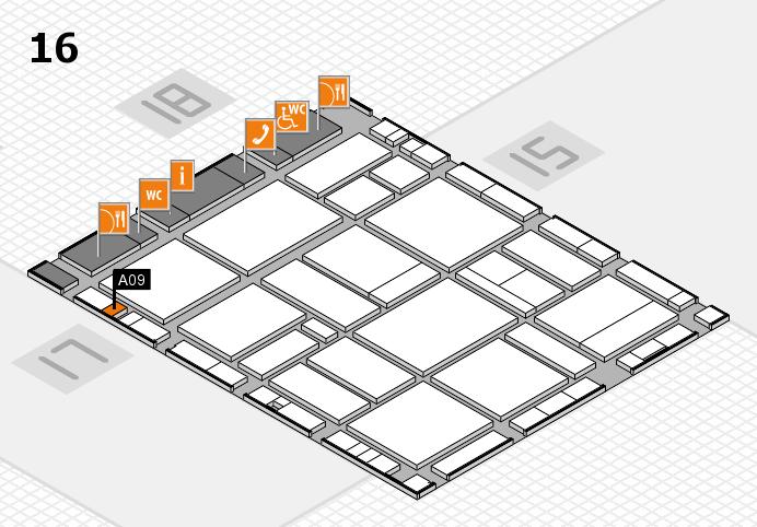 EuroShop 2017 hall map (Hall 16): stand A09