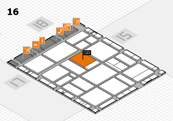 EuroShop 2017 hall map (Hall 16): stand C23