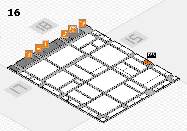 EuroShop 2017 hall map (Hall 16): stand E56