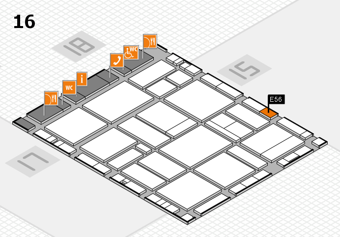 EuroShop 2017 hall map (Hall 16): stand E56