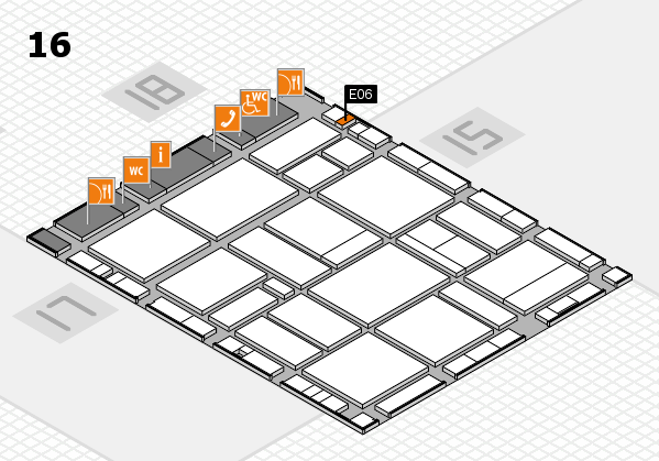 EuroShop 2017 hall map (Hall 16): stand E06