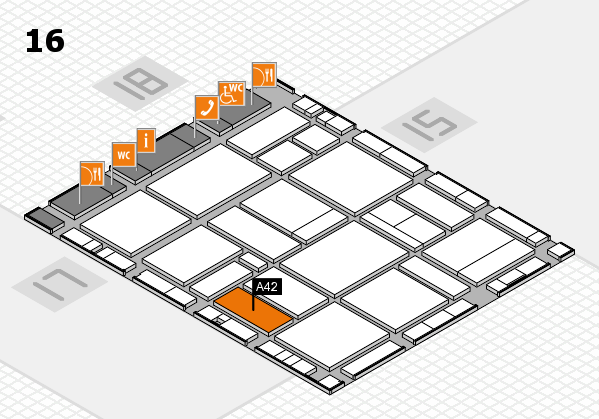 EuroShop 2017 hall map (Hall 16): stand A42