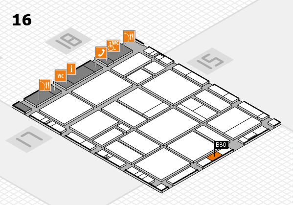 EuroShop 2017 hall map (Hall 16): stand B80