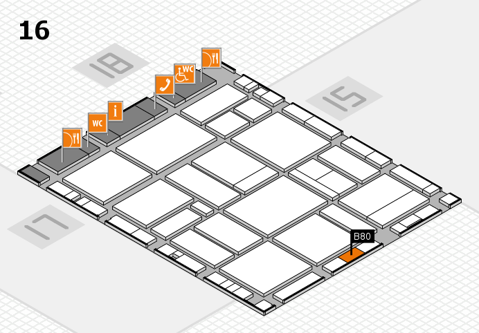 EuroShop 2017 hall map (Hall 16): stand B80