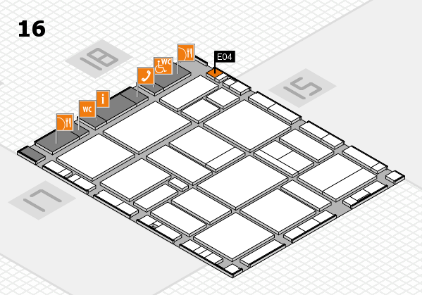 EuroShop 2017 hall map (Hall 16): stand E04