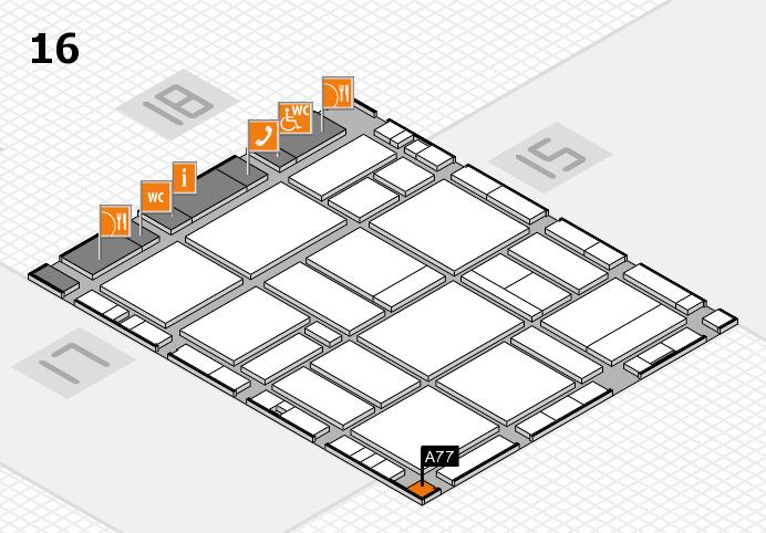 EuroShop 2017 hall map (Hall 16): stand A77