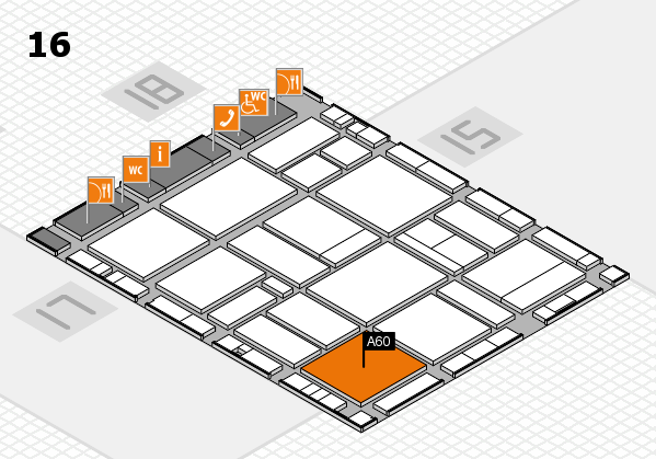 EuroShop 2017 hall map (Hall 16): stand A60
