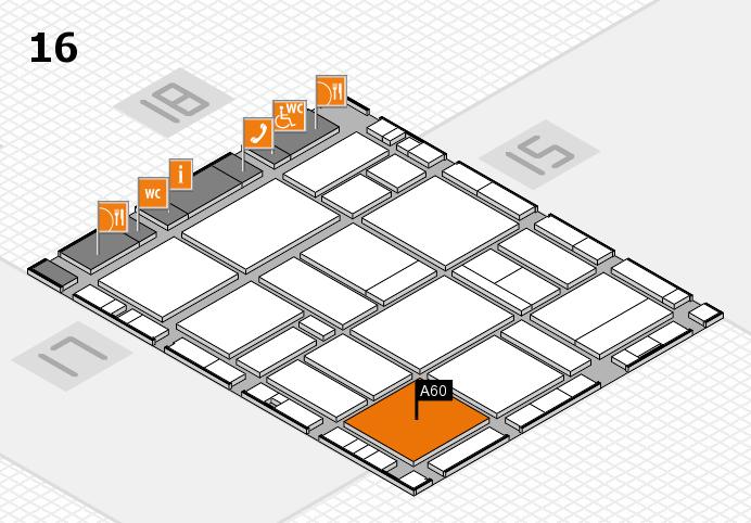 EuroShop 2017 hall map (Hall 16): stand A60