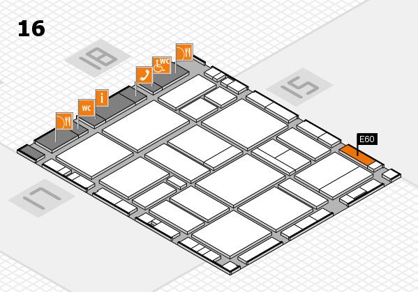 EuroShop 2017 hall map (Hall 16): stand E60