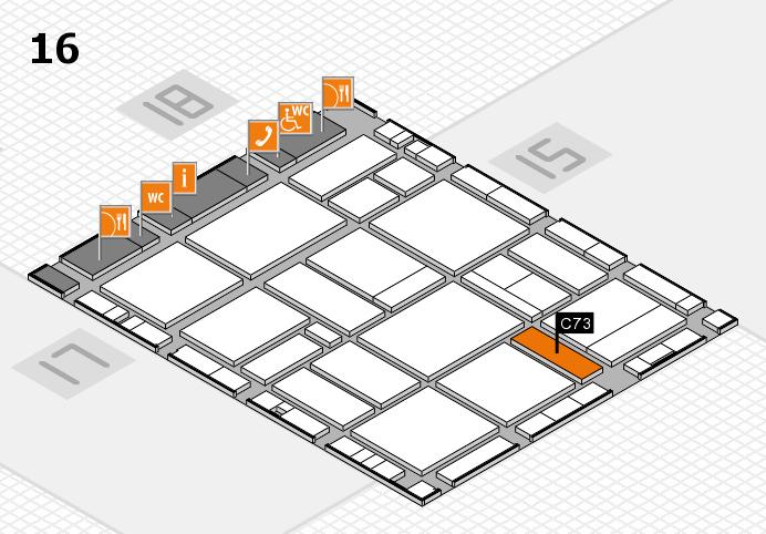 EuroShop 2017 hall map (Hall 16): stand C73