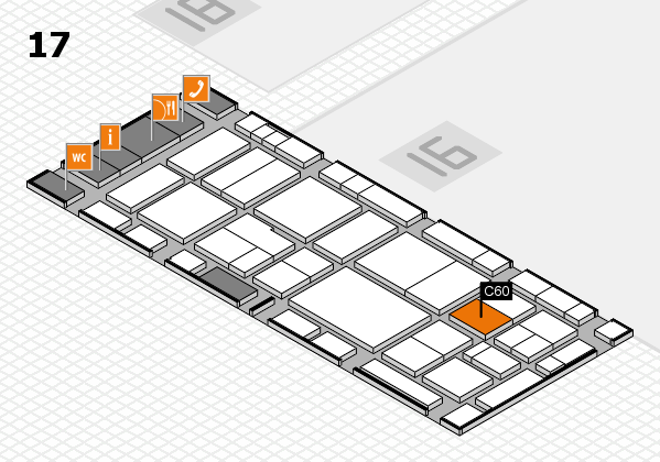 EuroShop 2017 hall map (Hall 17): stand C60