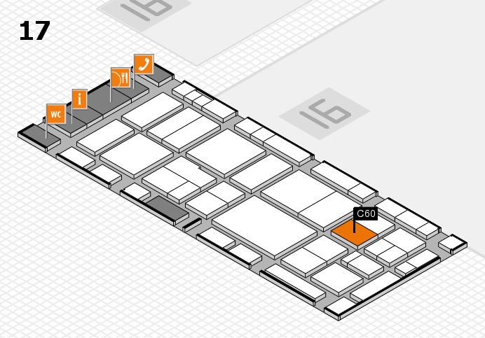 EuroShop 2017 hall map (Hall 17): stand C60