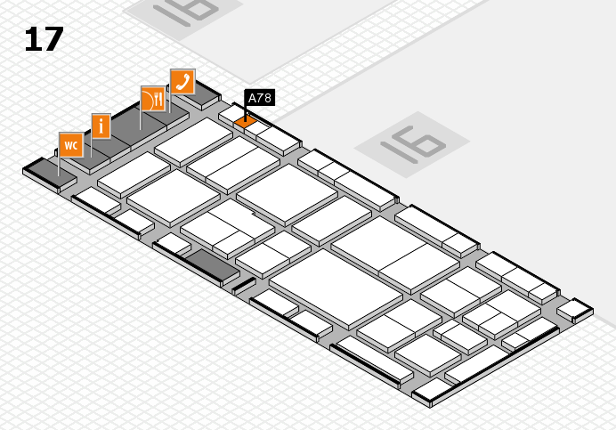 EuroShop 2017 hall map (Hall 17): stand A78