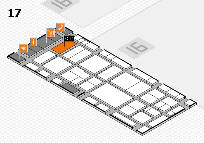 EuroShop 2017 hall map (Hall 17): stand C02