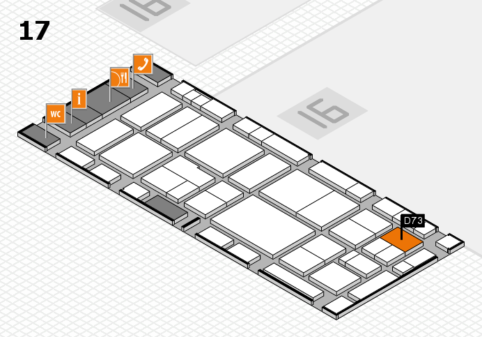 EuroShop 2017 hall map (Hall 17): stand D73