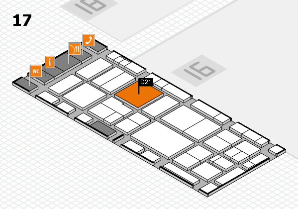 EuroShop 2017 hall map (Hall 17): stand D21