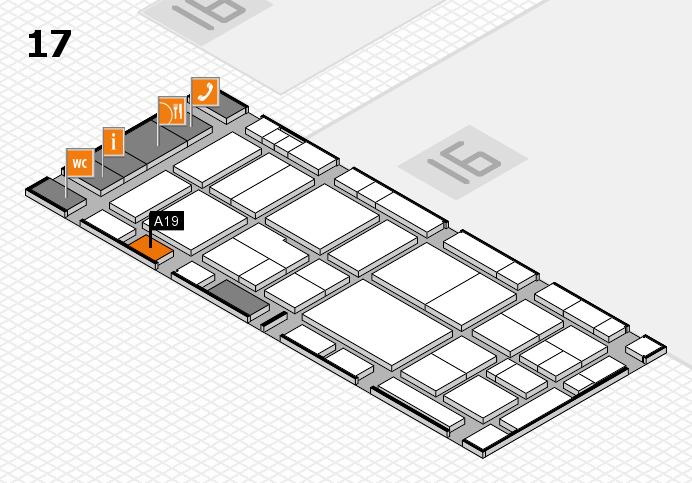 EuroShop 2017 hall map (Hall 17): stand A19