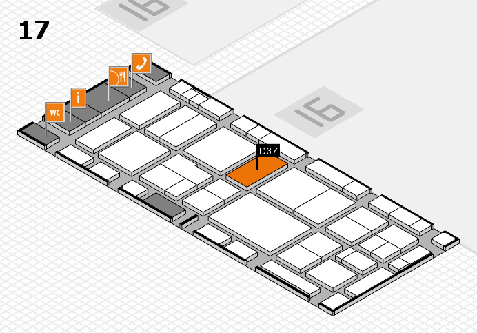 EuroShop 2017 hall map (Hall 17): stand D37