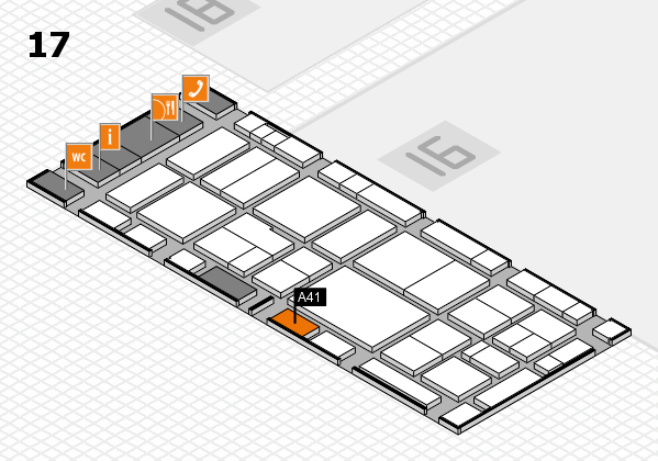 EuroShop 2017 hall map (Hall 17): stand A41
