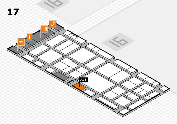 EuroShop 2017 hall map (Hall 17): stand A41