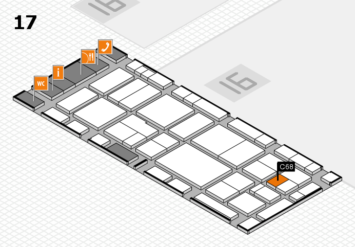 EuroShop 2017 hall map (Hall 17): stand C68