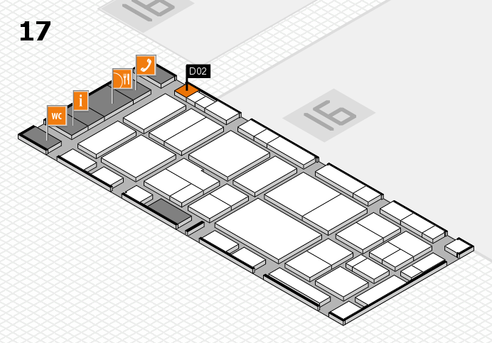 EuroShop 2017 hall map (Hall 17): stand D02