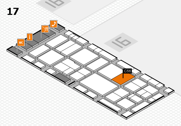 EuroShop 2017 hall map (Hall 17): stand C56