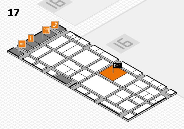 EuroShop 2017 hall map (Hall 17): stand D41