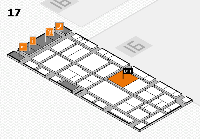 EuroShop 2017 hall map (Hall 17): stand D41