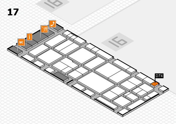 EuroShop 2017 hall map (Hall 17): stand D74