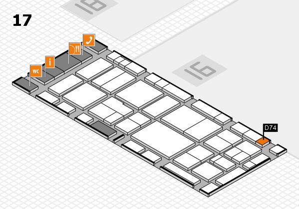 EuroShop 2017 hall map (Hall 17): stand D74